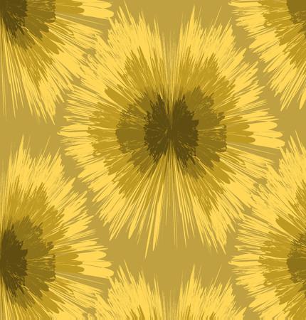 Seamless  Geometric background in modern ikat pattern Vettoriali