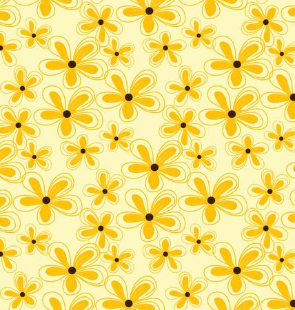 Vector pattern seamless yellow Hydrangea. illustration of yellow hydrangea blossom. 矢量图像