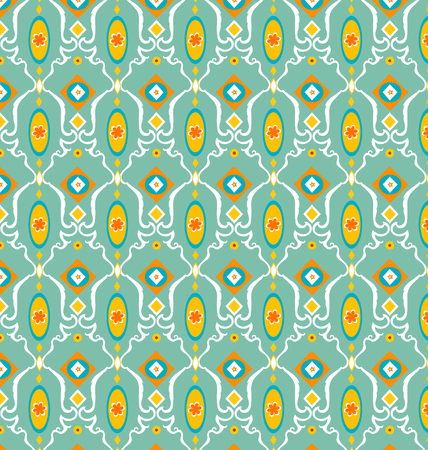 Seamless geometric patterned retro Ilustracja