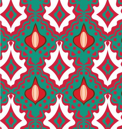 Abstract seamless ornament pattern vector illustration Illusztráció