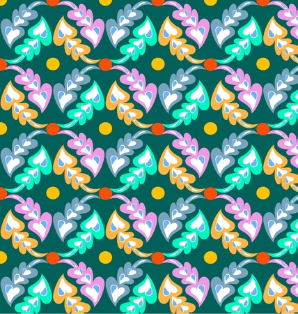Geometric patterns, floral retro circle pattern. Vector background.