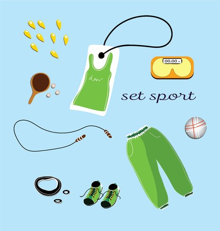 Sports clothes pattern and accessories, hand drawn seamless pattern