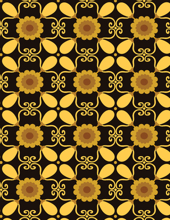 A Vector Set with Beautiful ornamental tile background Vectores