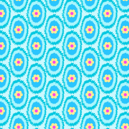 pattern cloth dyed blue background of floral. 일러스트