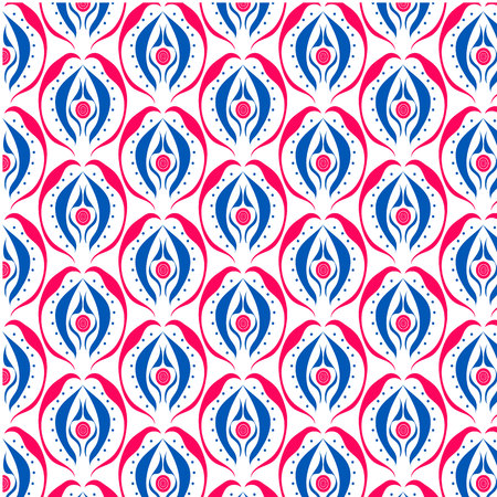 aztec tribe art style free from seamless pattern Stock Illustratie