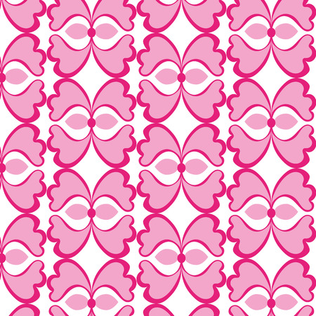 Vector illustration of a 70s wallpaper.pink flowers  seamless patterns
