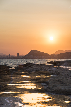 Sunset in the Huertas cap, Alicante, Spain