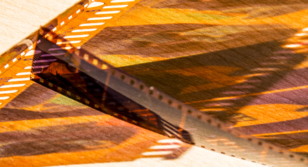 Cinema paradis with the passage of time and the years that endure despite the modern technology whit grain in negative film in color and other avatars