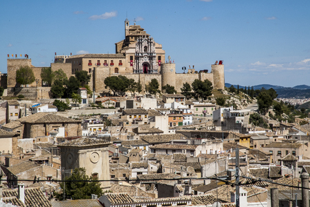 General view of Caravaca de la Cruz, population of the province of Murcia, Spain. Known for his jubilee on the Camino de Santiago in Galicia Imagens