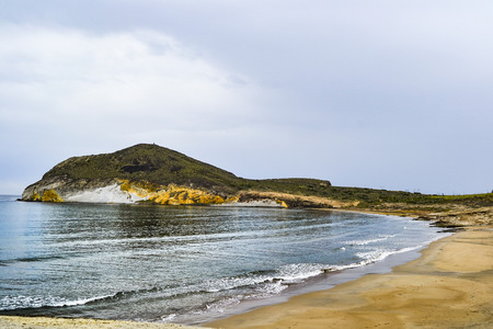 Beach of Los Genoveses on the coast of Almeria, Spain. Located in the protected area of Cabo de Gata