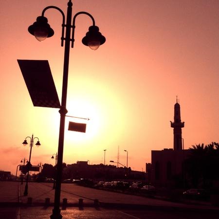 sillouette: Sunset in Jeddah Saudiarabia