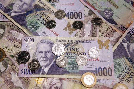 heap: Jamaican Currency Stock Photo