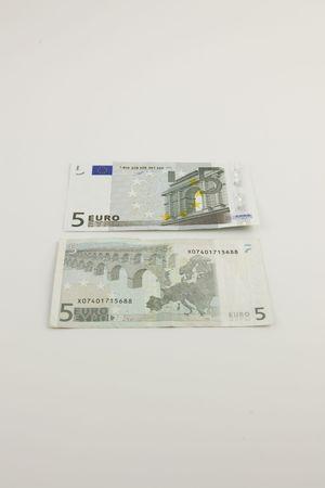 Two 5 Euro bills