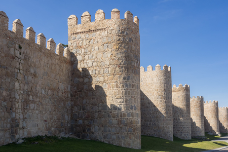 heritage protection: Town wall of Avila, Spain