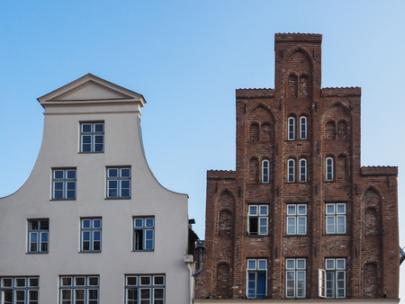 house gables: Gables of typical houses of Luebeck, Germany