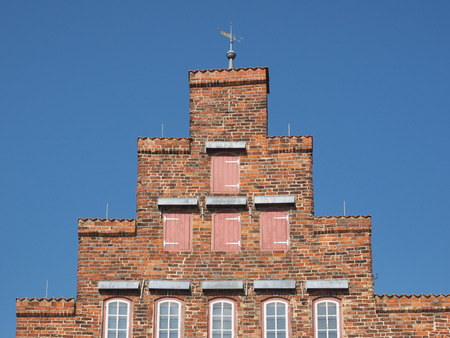 Gable of historical biliwick building in Travemuende, Luebeck