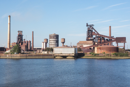 steelworks: Steelworks at a river