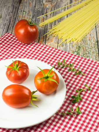 Still life of italian food
