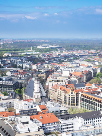 Aerial view of the city Leipzig, Saxony, Germany Stock Photo