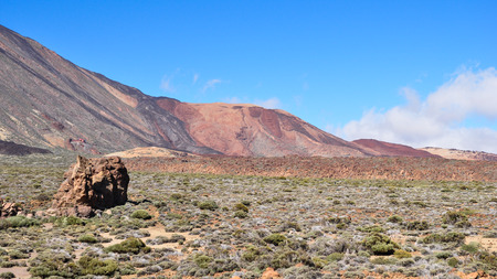 touristy: Landscape in the Teide National Park at Tenerife, Canary Islands