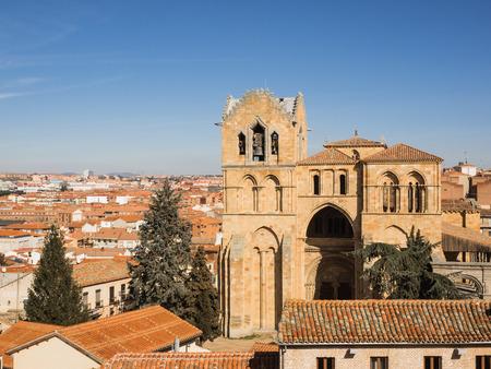 Aerial view of the city Avila, Spain Stock Photo