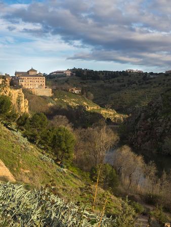 toledo: Landscape at river Tajo, Toledo, Spain