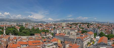 hugh: Panoramic view of Split, Croatia, seen from above