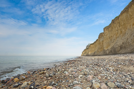 Cliff at the Baltic Sea in between Ahrenshoop and Wustrow, Mecklenburg-Western Pomerania Stock Photo