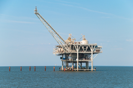 Offshore oil rig in the ocean