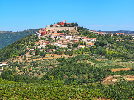 View of the city Motovun in Istria, Croatia