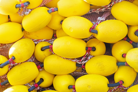 A lot of yellow floaters on a heap to use as background