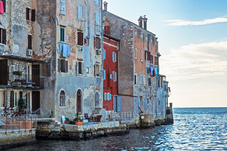 View from the ocean to the old town of Rovinj, Croatia Reklamní fotografie