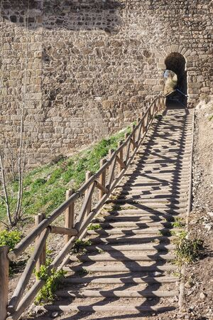Hiking trail in Toledo, Spain, and archway Imagens