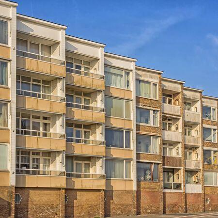 Block of flats in Zandvoort at the Dutch coast