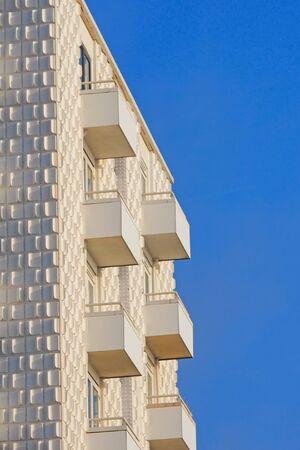Modern white building in Zandvoort at the  Dutch coast