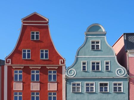 Historic houses in the old town of Rostock, Germany Standard-Bild