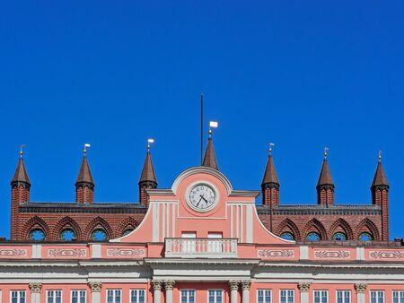 Rathaus der Stadt Rostock, Deutschland Editorial