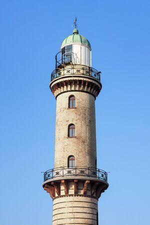 Old lighthouse of Rostock Warnemuende