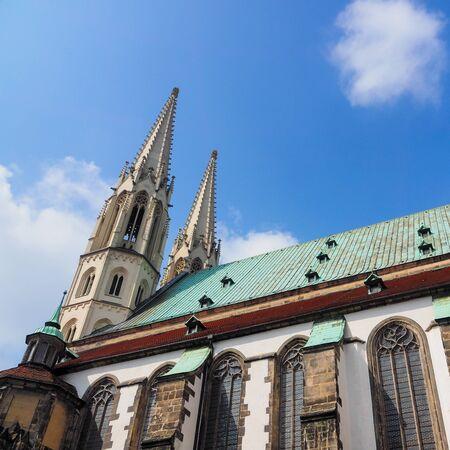 Goerlitz, Saxony, Germany: close-up of the St. Peter and Paul church Standard-Bild
