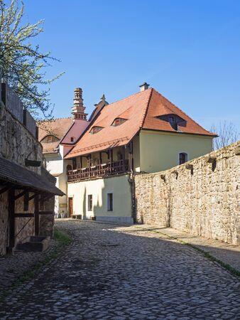 Alley in the old town of Bautzen, Saxony, Germany Standard-Bild