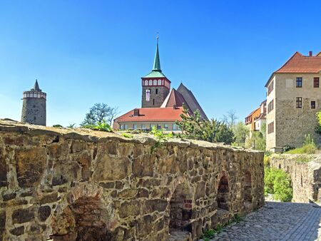 Old town of city Bautzen with historical building