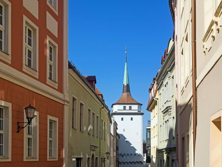 Old town of city Bautzen, Saxony, Germany, with historical tower