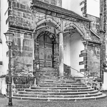 Stairs of the St. Peter and Paul church at Goerlitz, Germany Standard-Bild