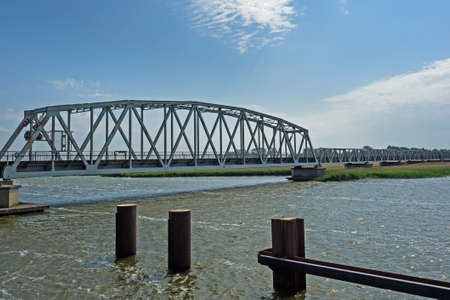 Bridge Meiningen in between Zingst and Bresewitz, Mecklenburg-Western Pomerania, Germany