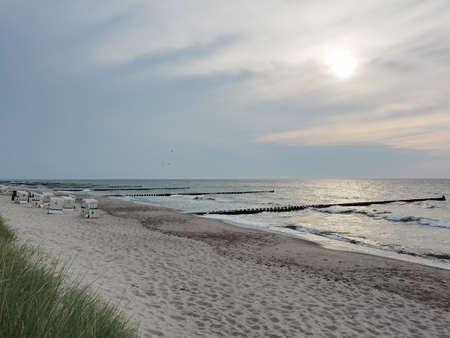 Beach at the Baltic Sea near to Ahrenshoop, Mecklenburg-Western Pomerania, at evening