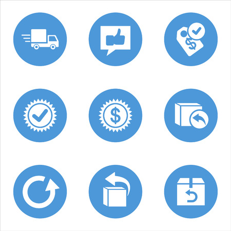 fast delivery: Set of flat icons.