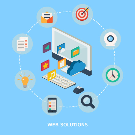 Vector illustration for web, flat icons Vector