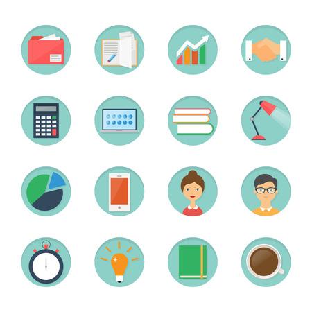 Set van business iconen Stock Illustratie
