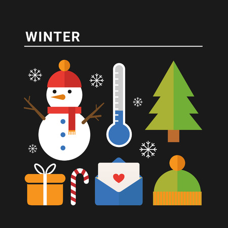 winter season: Winter season. Vector illustration