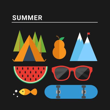 Summer season. Vector illustration Vector